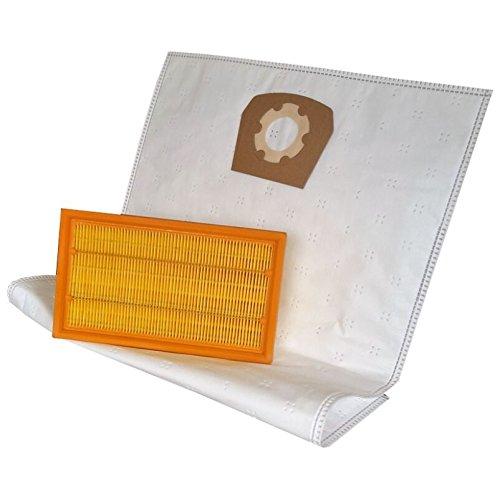 daniplus 10 Staubsaugerbeutel + Filter passend für HILTI VC 20 U/VC 40 U Staubsauger Staubsaugerfilter Luftfilter