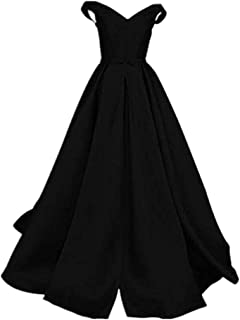 Women's Off The Shoulder A-Line Evening Ball Gowns With Bow