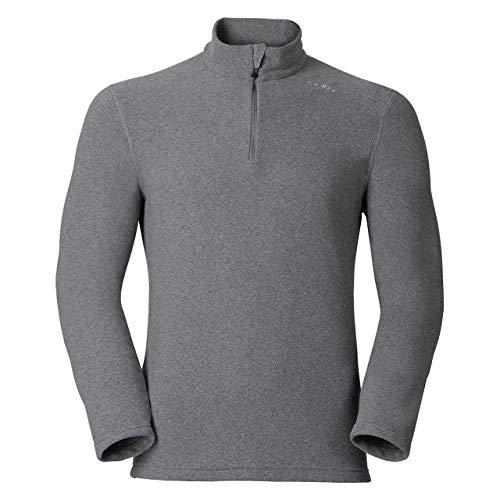 Odlo Midlayer 1/2 Zip Le Tour Sweaters Homme, Grey Melange, FR : L (Taille Fabricant : L)