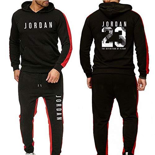 Conjunto Chándales Unisex Sudaderas Baloncesto Sudaderas con Capucha Pantalones, 23# Jordan Casual...