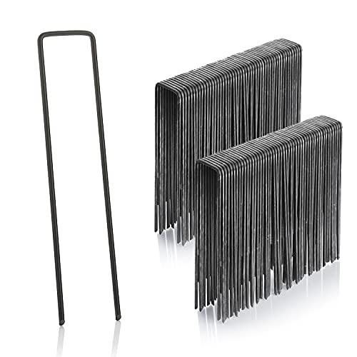 GardenMate, Grapas de sujeción 150 mm largo 25 mm ancho de alambre de acero 2,9 mm, 100 unidades