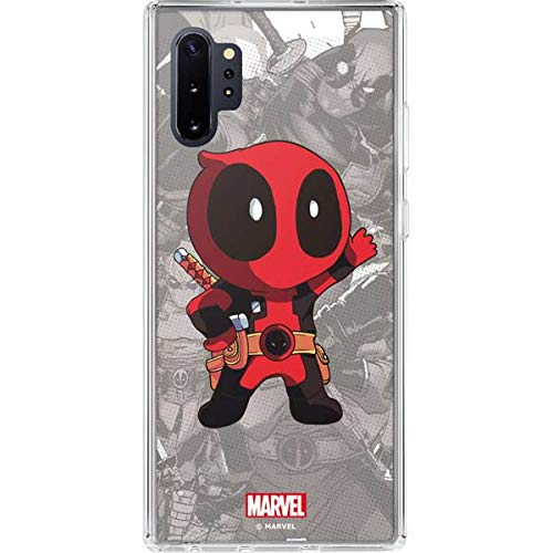 Skinit Clear Phone Case Compatible with Galaxy Note 10 Plus - Officially Licensed Marvel/Disney Deadpool Hello Design