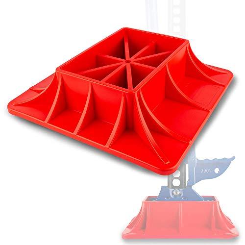 X-BULL Base for Hi Lift Jack Off-Road Base for Hi Lift Jack,Heavy Duty Off-Road Lifting,PP Pad to Alleviate Jack Hoisting Sinkage (Red)