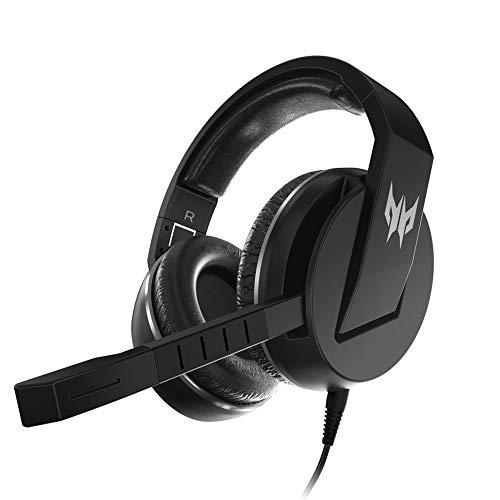 Acer Predator Galea 311 True Harmony Sound Gaming Headset: 50 mm Treiber, drehbares omnidirektionales Mikrofon mit On-Kabel-Kontrollen, Schwarz
