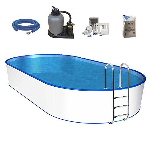 POWERHAUS24 mediPool Ovalpool-Set Pool