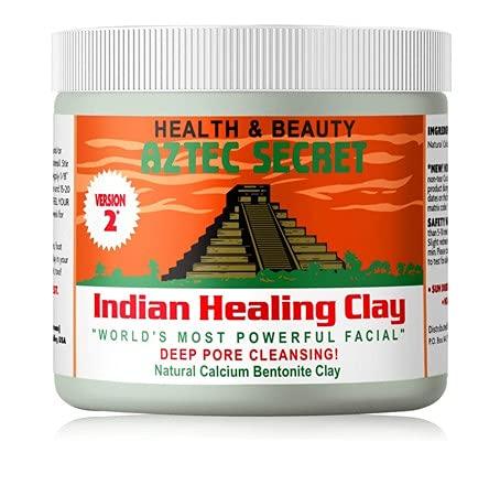 Aztec Secret – Indian Healing Clay - Porentief reinigende Gesichts- & Körpermaske - Das Original 100% natürliche Calcium Bentonit Tonerde - Neue Version 2