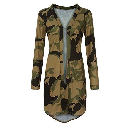 TITAP Womens Ladies Long Cardigan Camouflage