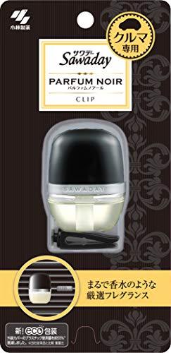 サワデー 車用消臭芳香剤  クリップタイプ パルファムノアールの香り 6ml