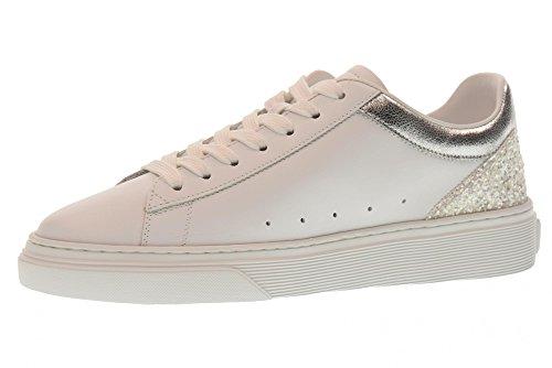 Hogan Scarpe Donna Sneakers Basse HXW3650J970III0351 H365 Taglia 39 Argento Bianco