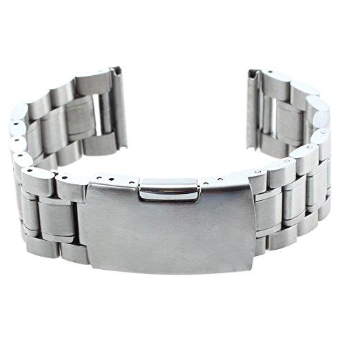 Kamenda Pulsera Correa de Repuesto para Reloj Metal Acero 20mm Color Plateado Regalo