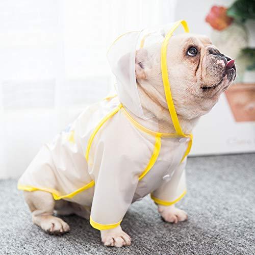 Puppies waterdichte regenjas hond kleren de lente en de herfst Xiaji Ying Bulldog puppy kleine honden XL witte paraplu