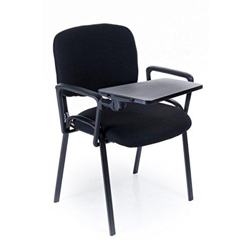 25 Sedie conference da attesa con scrittoio, ribaltina, nere per sala o convegni