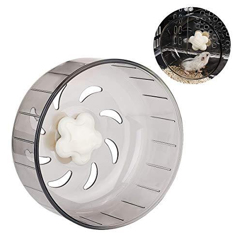 iFCOW hámster rueda de correr, de 5,2 pulgadas, de plástico acrílico, súper silencioso, rueda de ejercicio, juguete para mascotas pequeñas, hámster