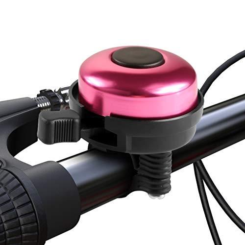 Paliston Fahrradklingel Aluminum Fahrradklingel für Erwachsene Kinder Jungen Mädchen Stil 2 Pink