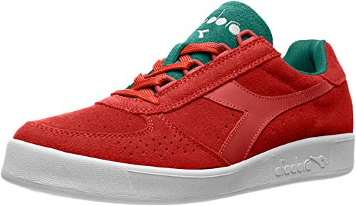 Diadora Mens B.Elite Suede Sneakers Shoes Casual - Red - Size 7.5 D
