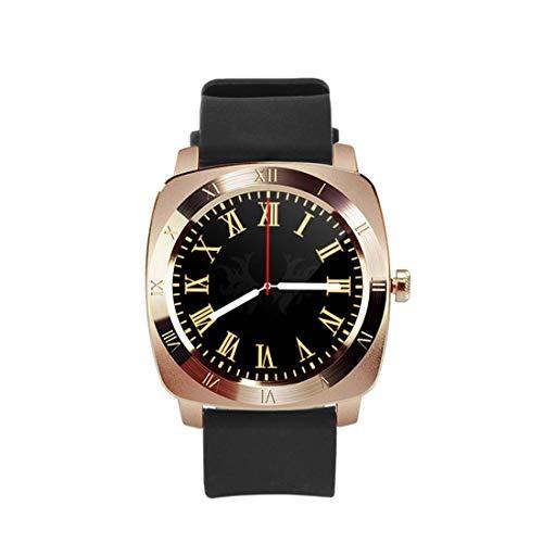 LYDB Uhren 1,33 Zoll volle IPS kapazitive Runde Touchscreen Bluetooth 3.0 Silikonarmband Smart Watch Phone mit Micro-SIM-Kartensteckplatz für alle Android-Smartphones, Unterstützung FM Radio/Pedometer/