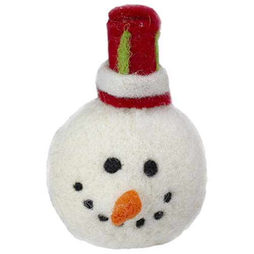 TII Collections 5' Snowmans Face with a Red and Green Striped Hat Christmas Ornament