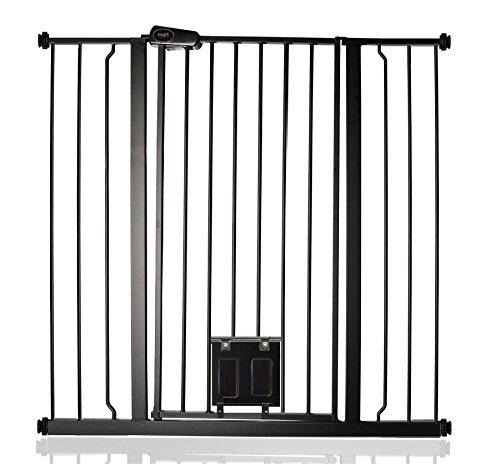 Bettacare Sicurezza Cancello con gattaiola Nero Opaco 100.8cm - 108.4cm