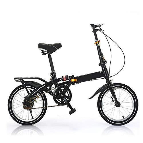 Faltrad Leichter Aluminiumrahmen Mountainbike 7-Gang-Getriebe Geeignet für Outdoor-Radfahren,Black