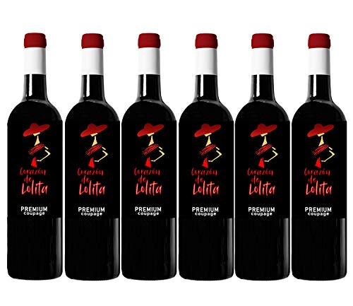 Corazón de Lolita Premium Coupage - Vino ecologico - 6 botellas x 750ml