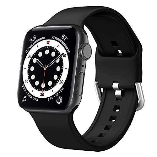 Diruite Correa de repuesto para Apple Watch 6/SE/5/4 de 44 mm, silicona suave, compatible con iWatch Series 6/SE/5/4 de 44 mm