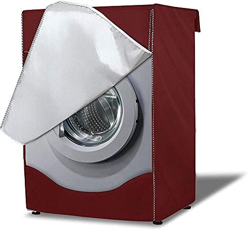 A-Generic Cubierta de Lavadora al Aire Libre Cubierta Impermeable y Cubierta de amp para 4 Cubiertas Laterales Cubierta de Lavadora tamaño Grande (Red de 60 × 56 × 85cm)