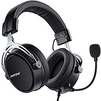 Mpow Air SE Gaming Headset for Xbox One PS4 PS5 PC Switch - Gaming Headphones with Fixed Mic Over-Ear Gaming headsets with 3D Surround Sound in-Line Control & High End Quality