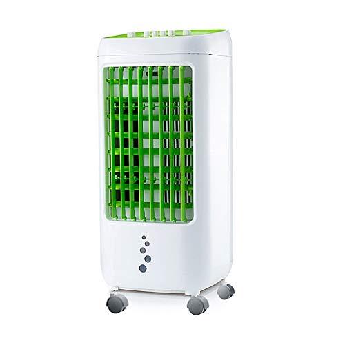 GYF Compact Climatizador Portátil,El Ahorro De Energía Enfriador Ventilador Panel De Control Táctil Ventilador Blanco Verde 28X26X62CM