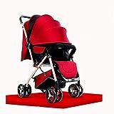 Cochecito ligero elegante cochecito de bebé, cochecito de bebé, luz de cochecito de bebé puede sentarse reclinable paraguas ultra ligero portátil plegable niños carro cochecito de bebé
