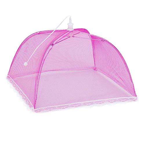 Longra 6 stuks bescherming voor levensmiddelen, tent, afdekking, tent, afdekking, koekennet, paraplu, vliegen, insectenbescherming, picknick, keuken MulticoloreA