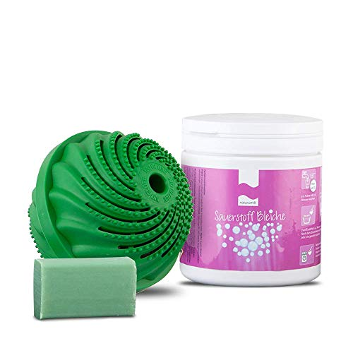 DIMIKRO Energie Waschkugel Original für Waschmaschine + Bleichmittel + Gallseife - Ökologischer Waschball mit EM-Keramik wäscht ohne Chemie & Waschmittel sauber