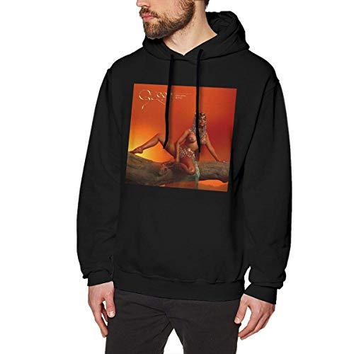 Tengyuntong Herren Kapuzenpullover, Hooded Sweat, Nicki Minaj Man's Fashion Hoodie Sweatshirt Black