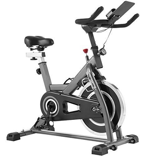 Bicicleta de Spinning, Bicicleta Fitness con Resistencia Magnética/ Volante Inercia Silenciosa, Bicicletas de Ejercicio casa con Soporte para iPad, Asiento Cómodo, Manillar y Resistencia Ajustable ⭐