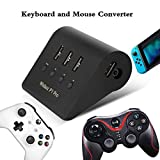 Tangxi Game Console Keyboard and Mouse Adapter, Support Mainstream Handles/Mouse, for PS4/Switch/XBOX ONE, Built-in 2-in-1 Headset Hole Ergonomic Mouse and Keyboard Adapter