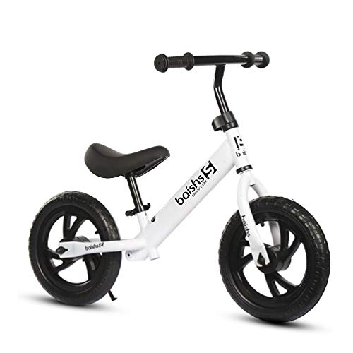XMAGG Biciclette Senza Pedali Balance Bike 12' per Bambini 2 a 6,White