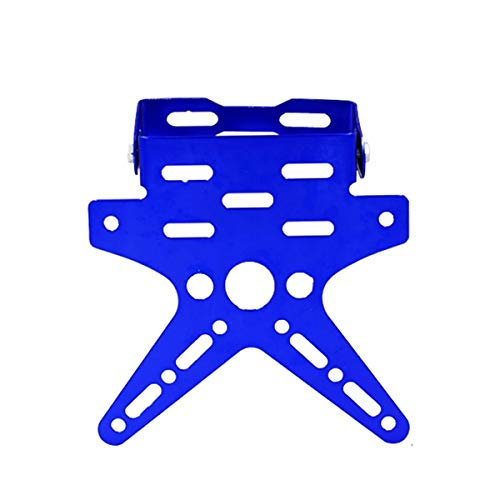 JDDREU Parts, Motorcycle Galvanizing Vehicle Modification Parts Nummernschild-Nummernschildrahmen Einstellbarer übertragbarer Rahmen Schwalben-Nummernschildrahmen (Color : Blue)