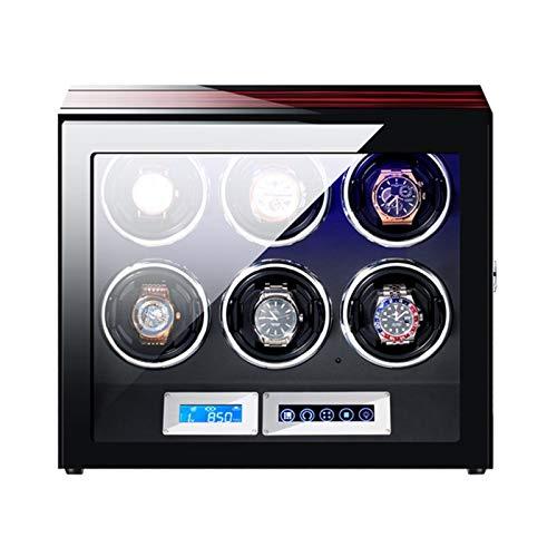 Cajón para guardar relojes y joyas Winder automático Winder LCD Pantalla táctil Pantalla con control remoto Iluminación incorporada Almohadas de reloj flexibles para hombres mujeres Estuche de almacen