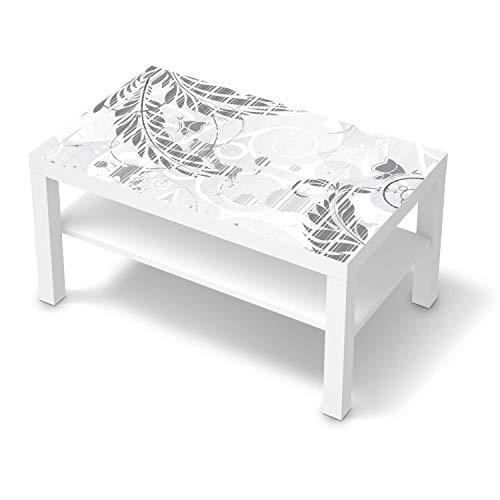 creatisto Möbeltattoo passend für IKEA Lack Tisch 90x55 cm I Möbelaufkleber - Möbel-Folie Tattoo Sticker I Wohn Deko Ideen für Esszimmer, Wohnzimmer - Design: Florals Plain 2