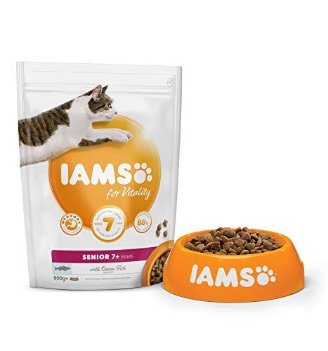IAMS Senior Vitality Ozean Fisch Katzen Trockenfutter (800g) (kann variieren)
