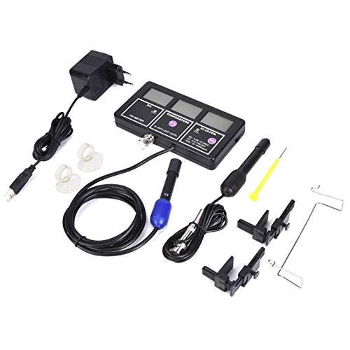 6-in-1 PH EC CF MV TDS Tester di Temperatura della Temperatura dell'acqua, PH-116 Monitor del Tester di Qualità dell'acqua, PH-Metro Misuratore Multiparametrico per Acquari(220V EU Plug)