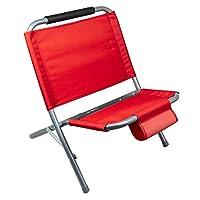 Dimensioni sedia aperta: 55 A x 49 L x 60 P cm c.a. Dimensioni sedia chiusa: 75 A x 49 L x 5 cm c.a. Materiale struttura: metallo con tubolare da 20 mm Materiale seduta: 65% PVC 35% poliestere Materiale leggero, resistente e antiruggine. Si adatta pe...