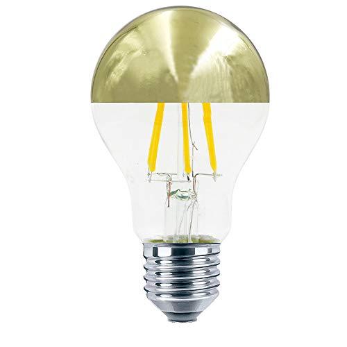 Bombilla estándar cúpula de oro LED 6W E27 Regulable Luz cálida 595 Lm.