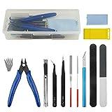 WMYCONGCONG 16 piezas Gundam Modeler herramientas básicas para manualidades Hobby Kit de herramientas de construcción para modelo profesional ensamblar construcción y fijación