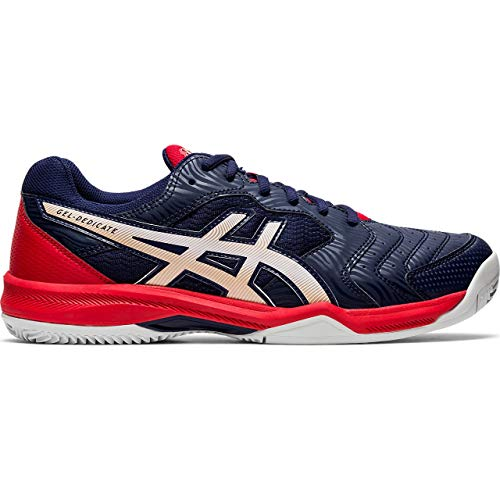 Asics Gel-Dedicate 6 Clay, Walking Shoe Unisex Adulto, Peacoat/White, 44.5 EU