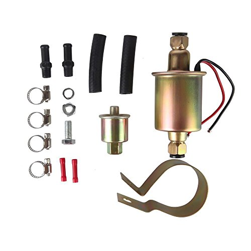 MIDIYA E8012S GA8012S Low Pressure (2.5-4PSI Universal 12V Heavy Duty Gas Diesel in-Line in-Tank Electric Fuel Pump with Installation Kit Metal Solid Petro Gasoline or Diesel Engine …