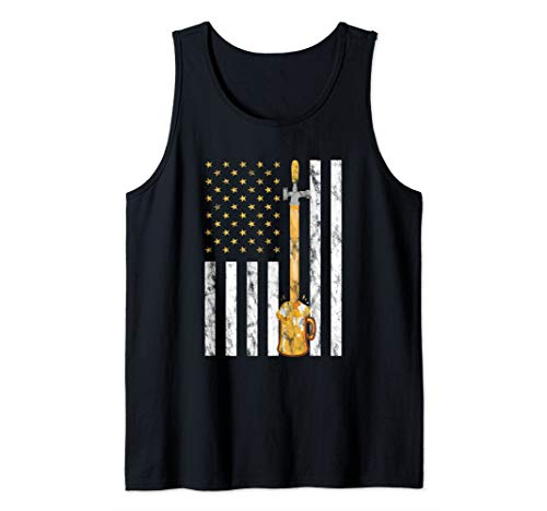 Craft Beer American Flag - USA 4th July Brewery Tank Top