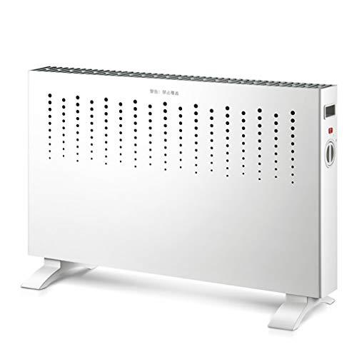 JCX Convectorverwarming van 2 kW, met 2 warmtestanden, vlakke oververhitting van de elektrische radiator en tuimelschakelaarbescherming - voor gebruik thuis of op kantoor