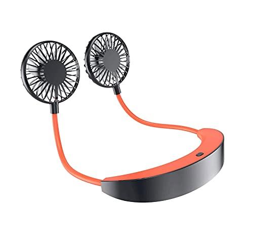 ZUIZUI Ventilador portátil para el cuello con manos libres, mini USB, ventilador personal, portátil, 3 velocidades, recargable por USB, muy adecuado para niños