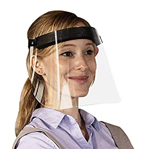 Made in USA Durable and Reusable Face Shield, One Size Fits All, Anti-Fogging Ultra-Clear Polycarbonate, Adjustable Strap, Neoprene Rubber Head Cushion, Easy to Clean from USAMADE