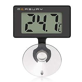 Measury Aquarium Thermometer Wasserdicht, Digital für Süßwasser und Meerwasser TM10